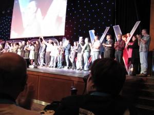 Alle Gäste der Opening auf der Bühne