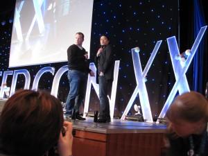Garrett Wang und Robert Duncan McNeil auf der Hauptbühne