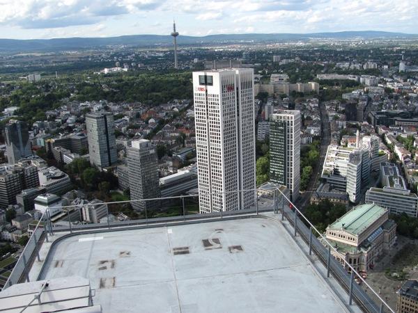 Blick vom Main Tower aus.
